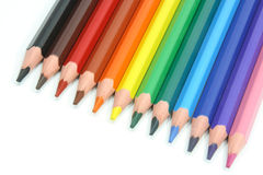 Colored pencils. On a white background royalty free stock images