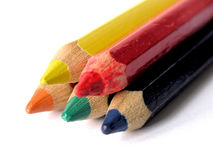 Colored pencils. Closeup Royalty Free Stock Image