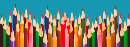 colored pencils Стоковое фото RF