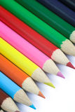 Colored pencils. Background stock photos