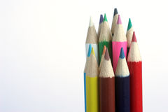 Colored pencils. Isolated stock images