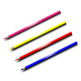 Colored pencils. On white background Stock Photography