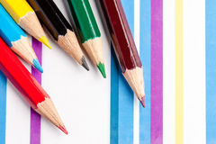 Colored pencils. This is closeup of colored pencils Royalty Free Stock Photography