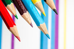 Colored pencils. This is closeup of colored pencils Royalty Free Stock Photo