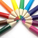 Colored pencils. Royalty Free Stock Photography