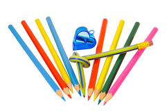Colored pencils 5 Royalty Free Stock Photography