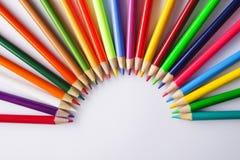 colored pencils royaltyfria foton