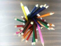 colored pencils Arkivbilder
