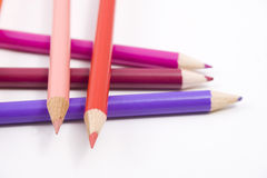 Colored pencils. Lying on top of each other in a cross hatch format Stock Photo