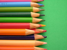 Colored pencils. Ready for use in school or the office Royalty Free Stock Images