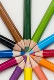 colored pencils Royaltyfri Bild