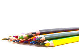 Colored pencils. On white background Royalty Free Stock Photography