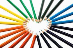 Colored pencils. Set of color pencils on a white background Stock Image