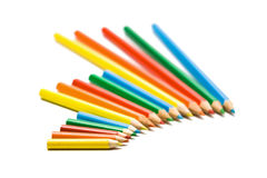 Colored pencils. Set of color pencils on a white background Royalty Free Stock Photos