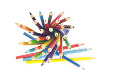 Colored Pencils Abstract royalty free stock photos