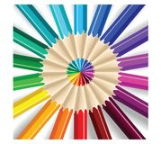 Colored Pencils Abstract Background vector illustration. For designer Vector Illustration