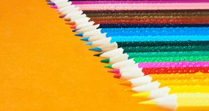 Colored pencils. Abstract colored background. Royalty Free Stock Photo