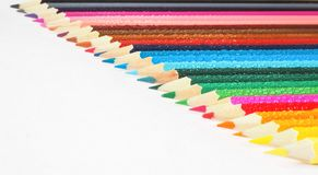 Colored pencils. Abstract colored background. Stock Photos