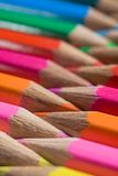 Colored Pencils All In A Row Royalty Free Stock Photos