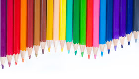 Colored Pencils arranged like waves Royalty Free Stock Image