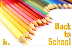 Colored pencils back to school Stock Images