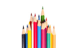 The colored pencils Stock Photos