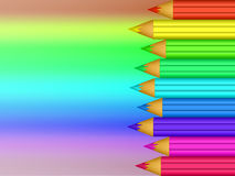 Colored pencils. On colored background Stock Image
