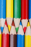 Colored pencils background. Top view of colored pencils Royalty Free Stock Image