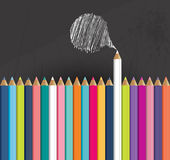 Colored pencils background. Back to school concept Royalty Free Stock Image
