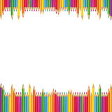 Colored pencils background Royalty Free Stock Photos