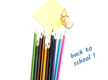 Colored pencils background Royalty Free Stock Photo
