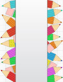Colored pencils banner Royalty Free Stock Images