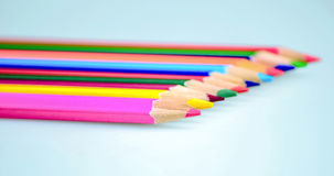 Colored pencils. Beautiful сolored pencils close-up Stock Photography