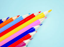 Colored pencils. Beautiful сolored pencils close-up Royalty Free Stock Photography