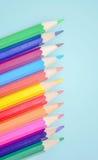 Colored pencils. Beautiful сolored pencils close-up Stock Photo