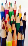 Colored pencils. A bunch of colored pencils stock image