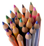 Colored Pencils Bundled Together Stock Photography