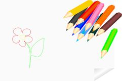 Colored pencils for children's creativity Royalty Free Stock Image