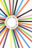 Colored Pencils in Circle Royalty Free Stock Photo
