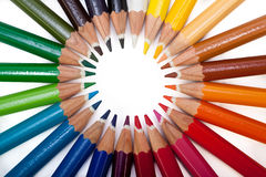 Colored Pencils Circle Royalty Free Stock Photo