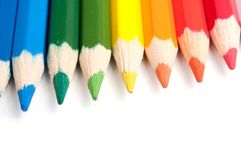 Colored pencils, close-up Royalty Free Stock Photography