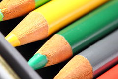 Colored Pencils. A close up of colored pencils Stock Images