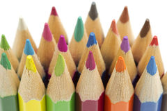 Colored pencils. Close up of an assortment of colored pencils stock image