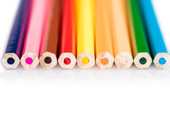 Colored pencils close-up Stock Image