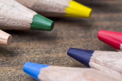 Colored pencils close-up Royalty Free Stock Image