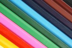 Colored pencils closeup Stock Image