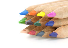 Colored pencils closeup Stock Photo