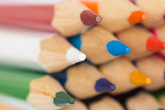 Colored pencils closeup Stock Photography