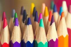 Colored pencils closeup Royalty Free Stock Photo