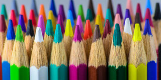 Colored pencils. Closeup of colored pencils Stock Photography